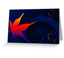 A Leaf out of colorful life Greeting Card