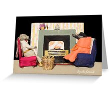 Wind in the Willows - By the fireside Greeting Card