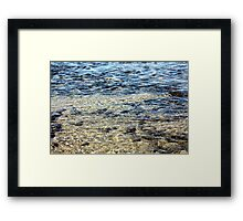 Oregon Coast Ripples Framed Print