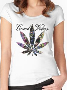 THE GOOD VIBES PLANT Women's Fitted Scoop T-Shirt