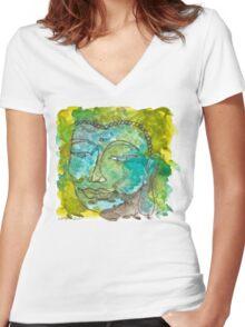 Maya Buddha Women's Fitted V-Neck T-Shirt