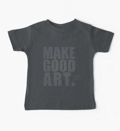 Make Good Art (Grey/Purple) Baby Tee