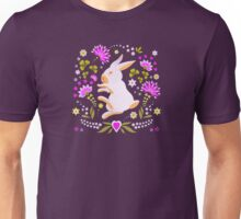 Easter Bunny on Chocolate Background Unisex T-Shirt