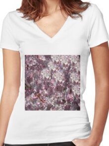 Spring in Pink Women's Fitted V-Neck T-Shirt