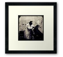 OLD SHANGHAI - My Barber, My Friend Framed Print