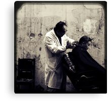 OLD SHANGHAI - My Barber, My Friend Canvas Print