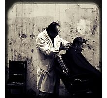 OLD SHANGHAI - My Barber, My Friend Photographic Print