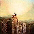 Deer at Dawn by Catrin Welz-Stein
