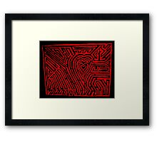 Amazed by the heart  Framed Print