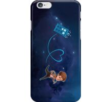 Eleventh Doctor & Tardis, by Shy Custis iPhone Case/Skin
