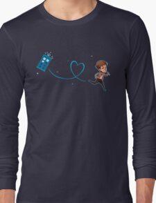 Eleventh Doctor & Tardis, by Shy Custis Long Sleeve T-Shirt