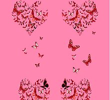 Red Butterflies by Bamalam Art and Photography