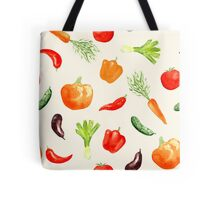 Watercolor vegetables pattern Tote Bag