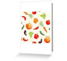 Watercolor vegetables pattern Greeting Card