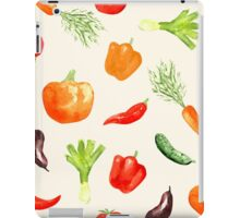 Watercolor vegetables pattern iPad Case/Skin