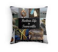 Harbour Life in Townsville Throw Pillow