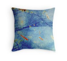 Blue Decay Throw Pillow