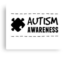 Autism Awareness in Black Canvas Print