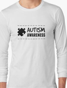 Autism Awareness in Black Long Sleeve T-Shirt