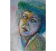 Green Woman Photographic Print