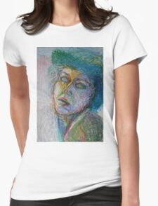 Green Woman Womens Fitted T-Shirt