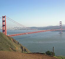 View of the Golden Gate Bridge and San Francisco from a distance by ashishagarwal74