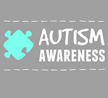 Autism Awareness in White&Blue by AllieJoy224