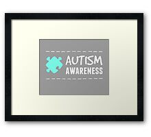 Autism Awareness in White&Blue Framed Print