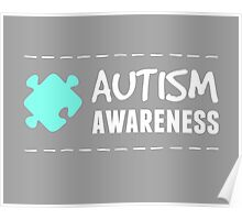 Autism Awareness in White&Blue Poster