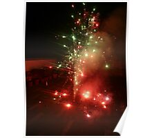 The many colors of a Diwali sparkler Poster