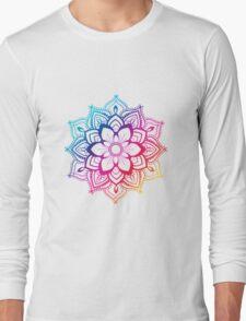 Warm Mandala Long Sleeve T-Shirt