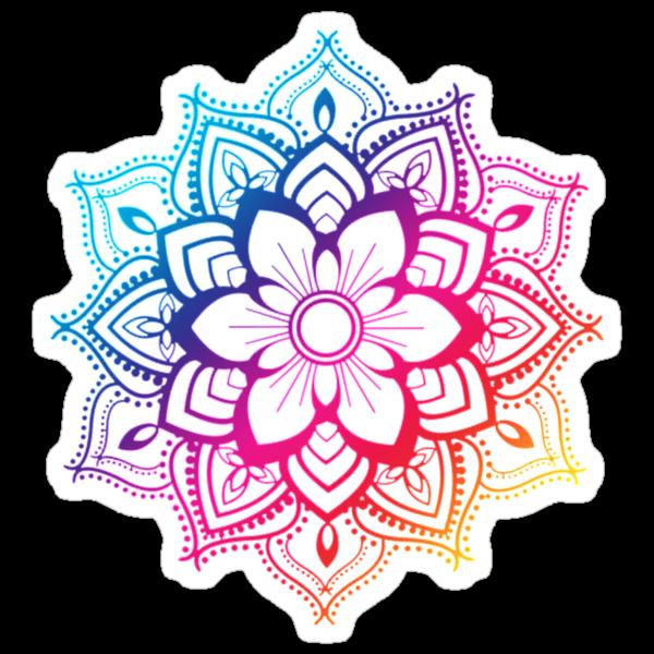 Quot Warm Mandala Quot Stickers By Adjsr Redbubble