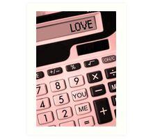 YOU + ME = LOVE! Art Print