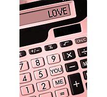 YOU + ME = LOVE! Photographic Print