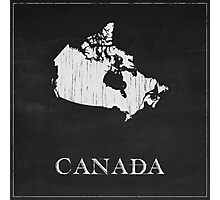 Canada Map Chalk Drawing Photographic Print