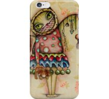 Cat art by ANGIECLEMENTINE iPhone Case/Skin