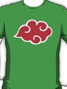 Naruto Shippuden Akatsuki Red Cloud Logo Anime Cosplay T Shirt T-Shirt