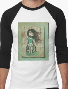 Beach art by ANGIECLEMENTINE Men's Baseball ¾ T-Shirt