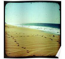 BEACH BLISS - Footprints Poster