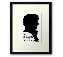 Not All Angels Have Wings - BBC Sherlock Framed Print
