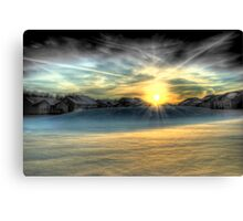 Sunset at The Backyard Canvas Print