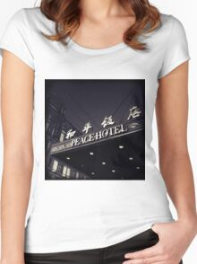 OLD SHANGHAI - Peace Hotel Women's Fitted Scoop T-Shirt