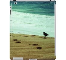 Calm beach photography 8x8 print, Los Cabos Mexico travel photography, green ocean waves seabird deep in thought dreamy TTV iPad Case/Skin