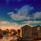 Sunset at Peggy's Cove 05 by kenmo