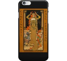 'Fall Festival' Vintage Poster (Reproduction) iPhone Case/Skin