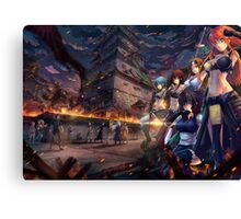 Warriors of Edo Canvas Print