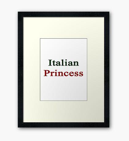 Italian Princess  Framed Print