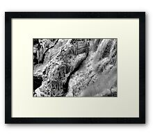Hydroelectricity in the Raw Framed Print