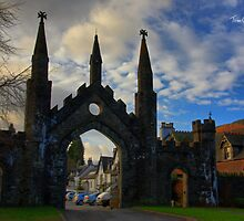 Taymouth Castle Gate by Tom Gomez