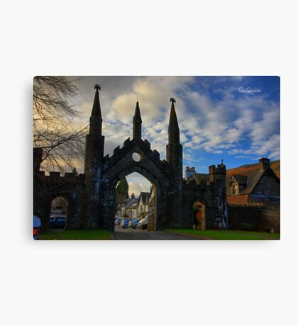Taymouth Castle Gate Canvas Print